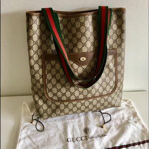 b75e005d8f0a Authentic GUCCI tote/Shoulder bag coated canvas